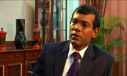 President Mohamed Nasheed of the Maldives