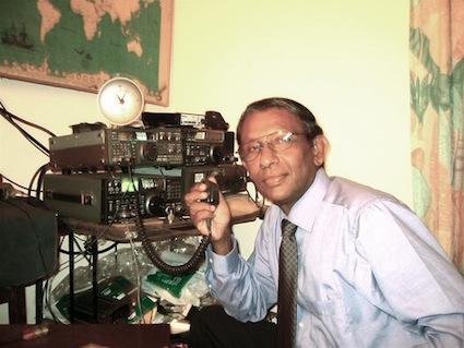 Victor Goonetilleke, a radio ham since 1966